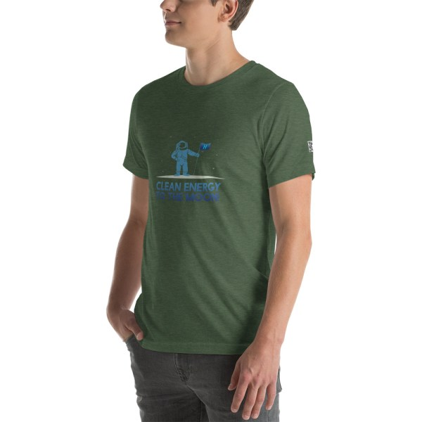 Clean Energy to the Moon Short Sleeve T-Shirt - Multiple Color Options 11