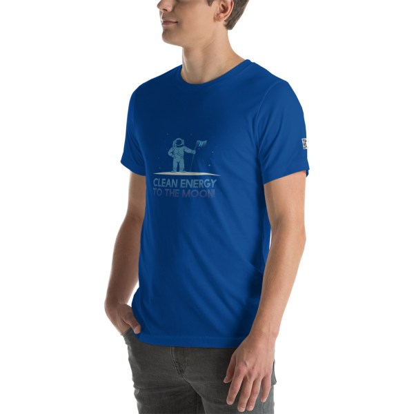 Clean Energy to the Moon Short Sleeve T-Shirt - Multiple Color Options 63