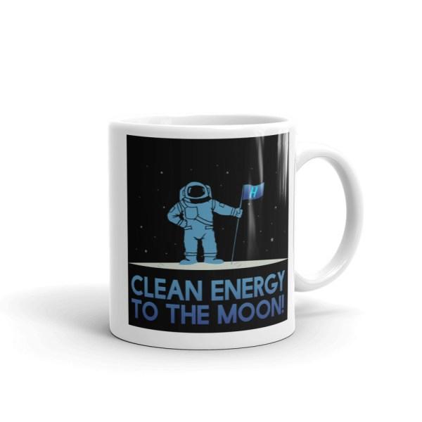 Astronaut Clean Energy White glossy mug 1
