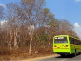Hydrogen fuel cell buses - Image of bus in India