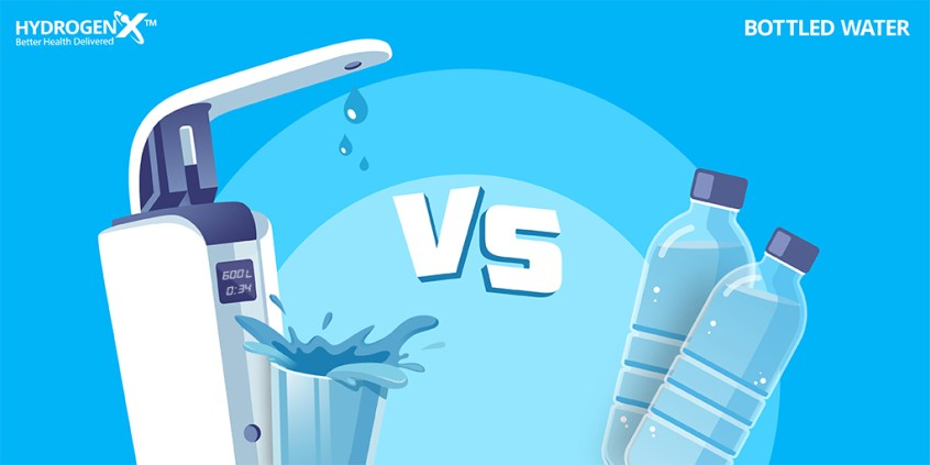 Hydrogen Alkaline Water vs Bottled Water