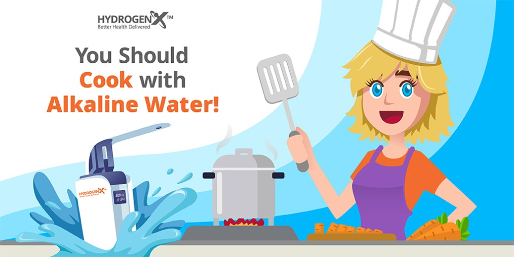 You should cook with alkaline water!