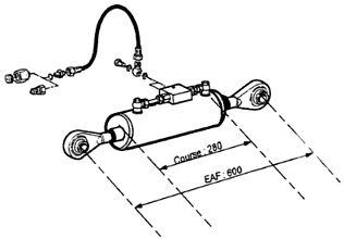 3ème point hydraulique pour tracteur agricole Case IH 845