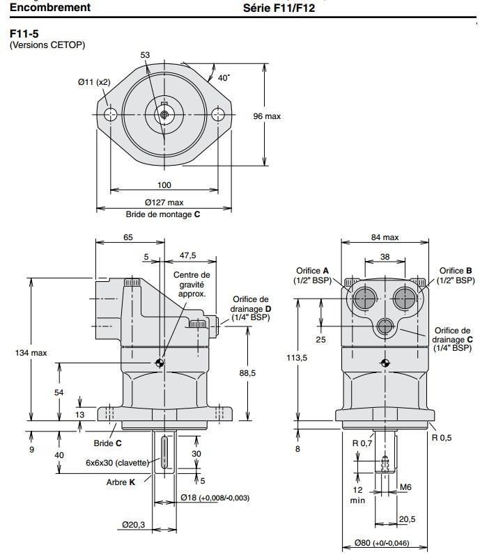 Parker 3707249 F11-005-MB-CV-K-000-000-0
