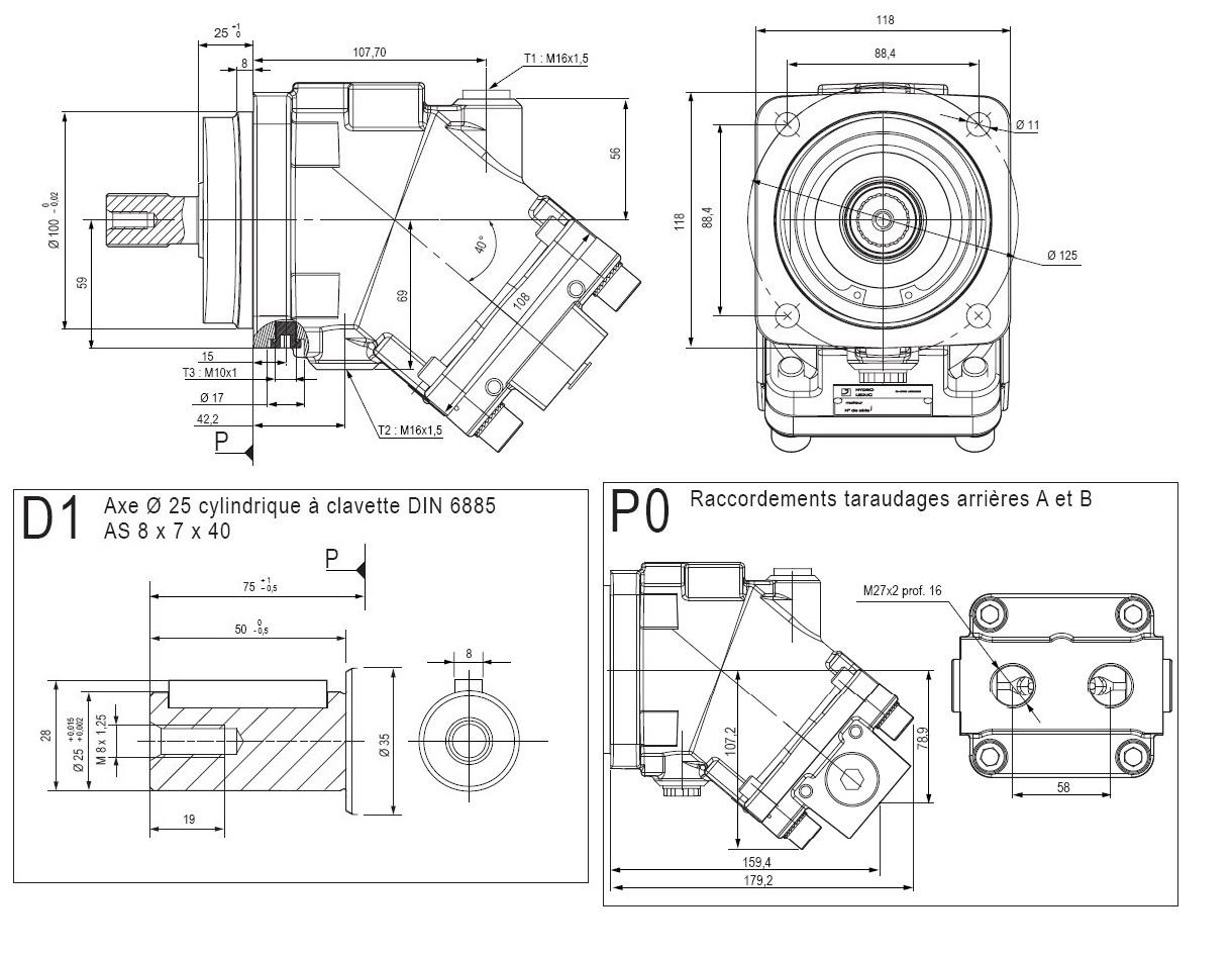 Moteur Piston Leduc M25 90800 M25AD1P0M200SVF