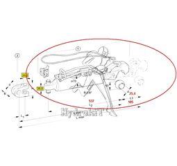 3rd hydraulic point 1309536 Waltersheid stroke 185 mm