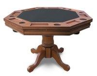 Hydropool.com   Antique Dark Oak Poker Table - Item NG2351T