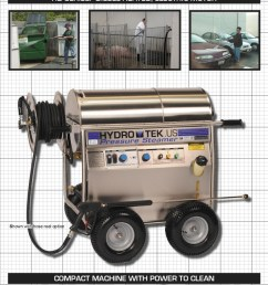 hd series hot water pressure washer compact portable electric powered diesel heated brochure page1 [ 791 x 1024 Pixel ]