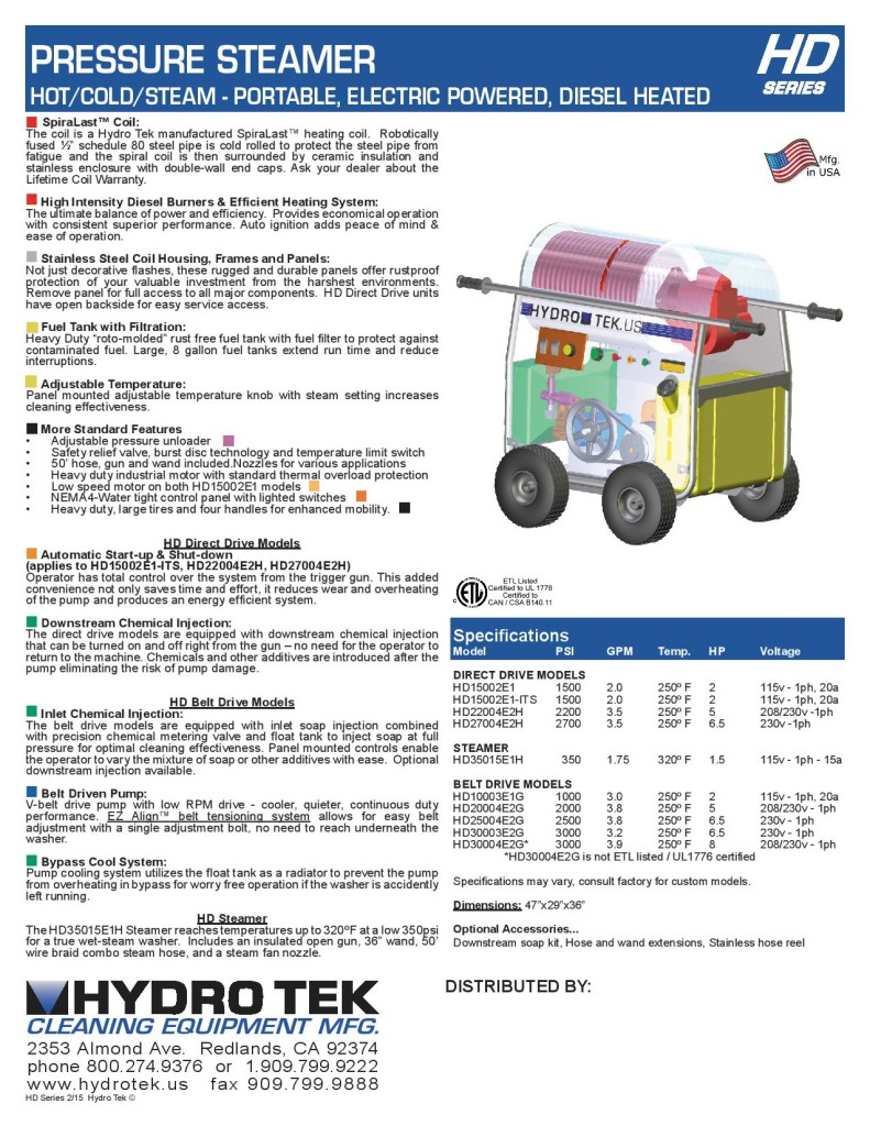 medium resolution of hd series hot water pressure washer compact portable electric powered diesel heated brochure page2