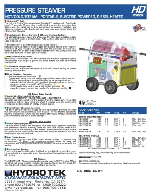 small resolution of hd series hot water pressure washer compact portable electric powered diesel heated brochure page2