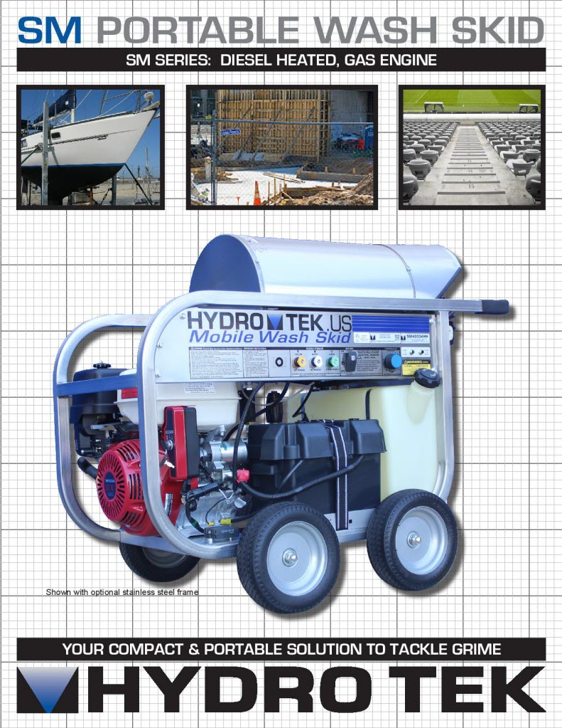 hight resolution of sm series portable hot water pressure washer brochure page1