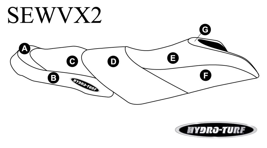 Hydro-Turf Seat Cover for Yamaha VX, VXS, VX Deluxe (15-16)
