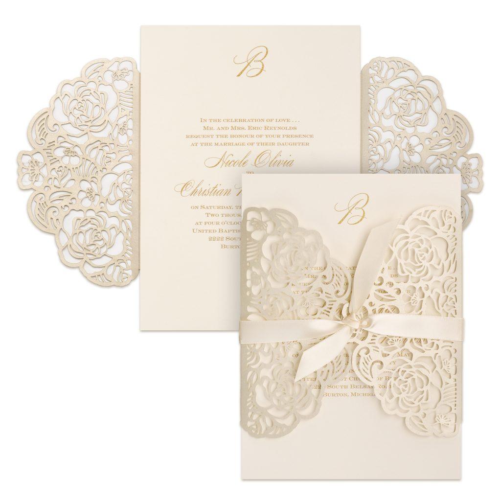 Carlson Craft Wedding Invitations  Stationery  Hyegraph Invitations  Calligraphy