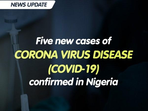 5 new covid19 cases in Nigeria