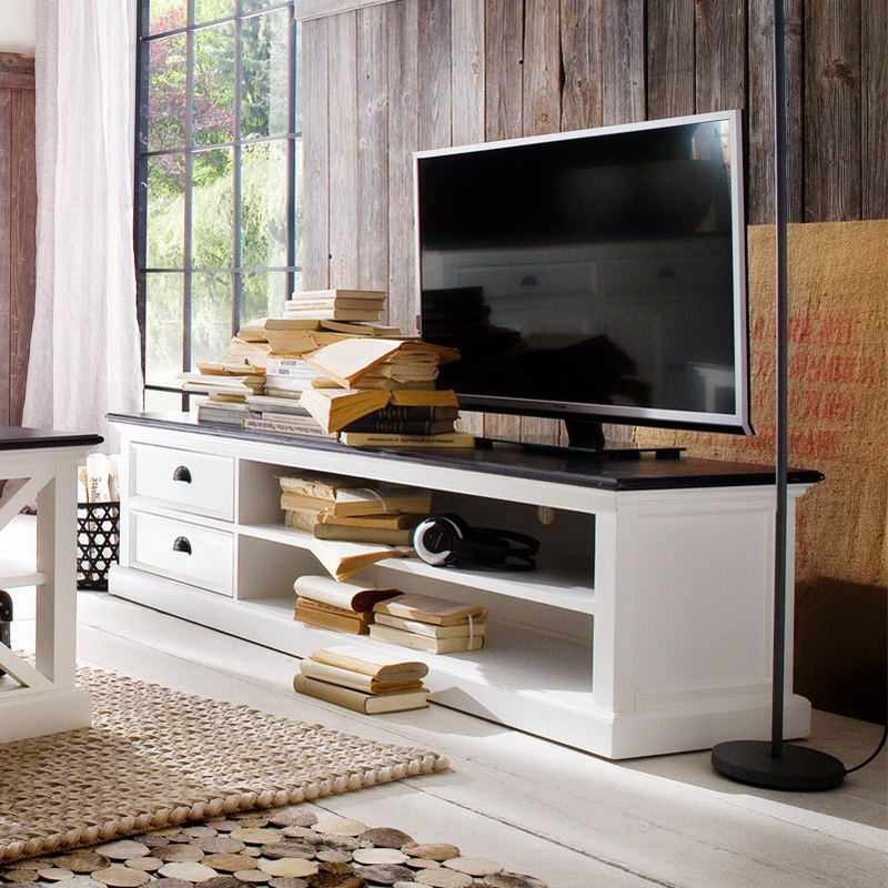 Halifax Contrast Large Entertainment Unit Large with Two Drawers