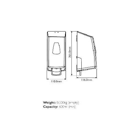 Savona Manual Cartridge Foam Soap Dispenser 800ml