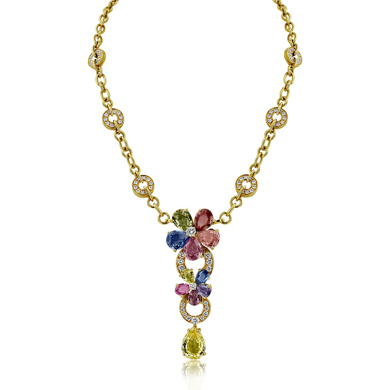 Bvlgari Necklace From Sapphire Flower Collection