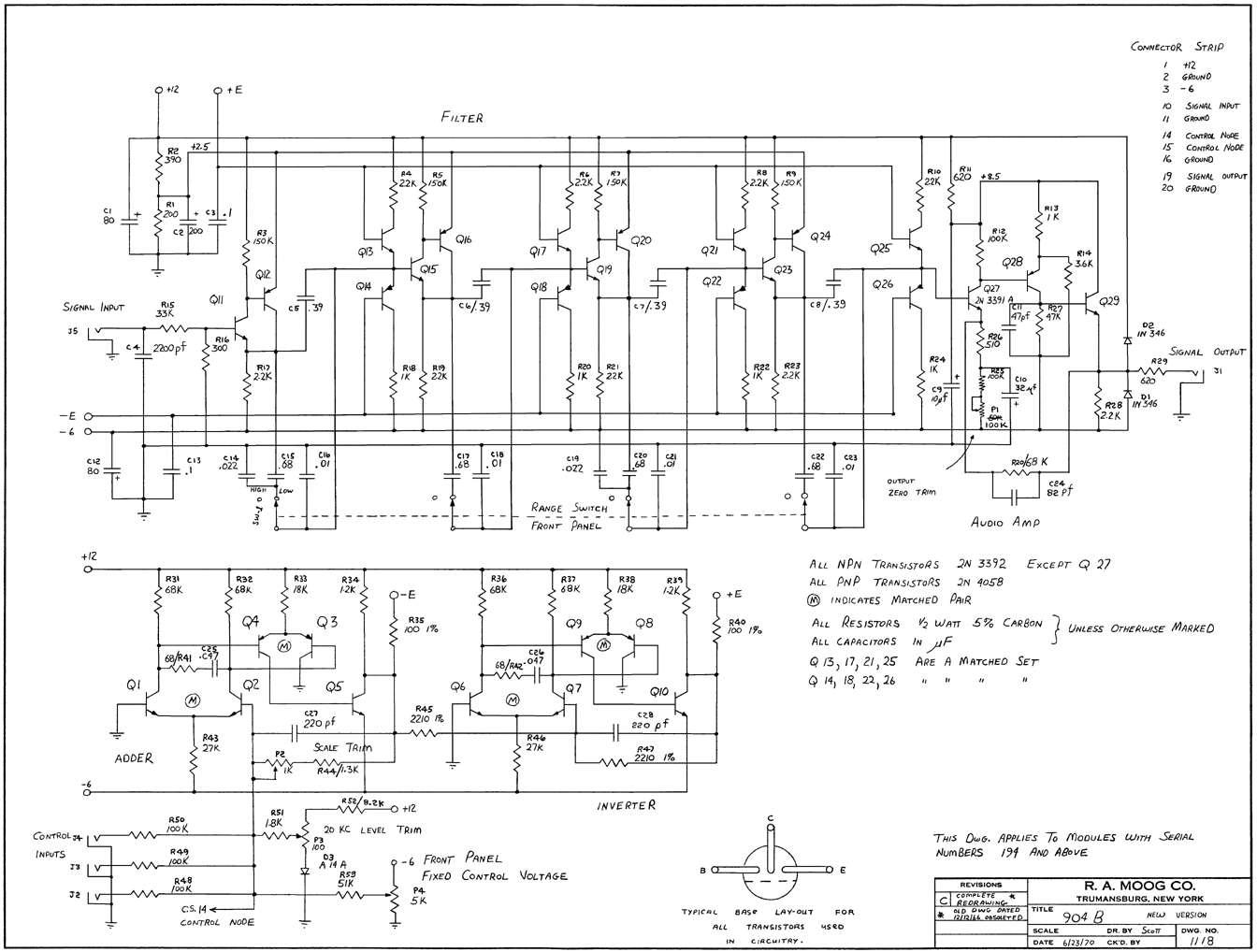 Moog 904b Vcf