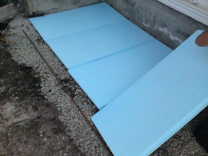 Markisolering av trapp i betongsten