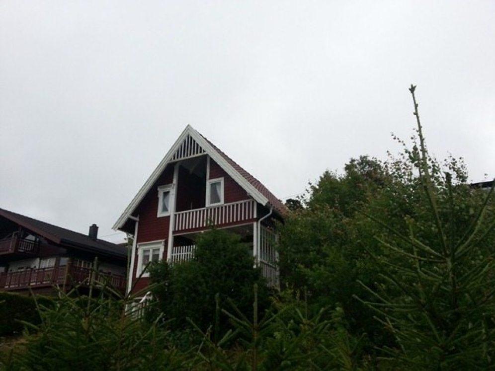 Taktekking av gammel hytte