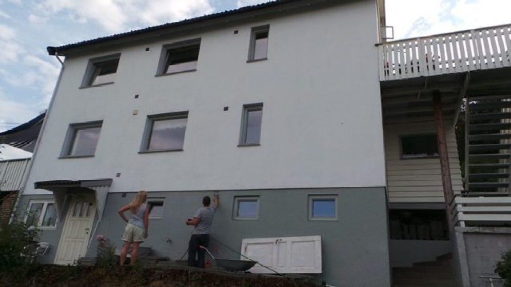 Før: Bakside hus