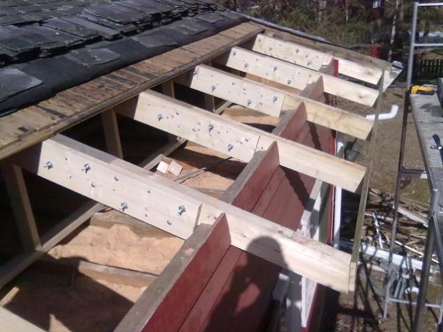 Skjøte av taksperrer