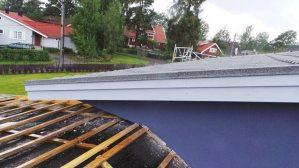 Legging av nye takplater, Decra Classic