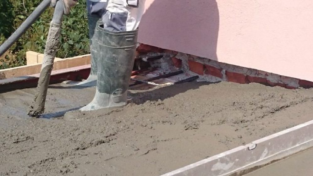 Støp av betong 2.etg