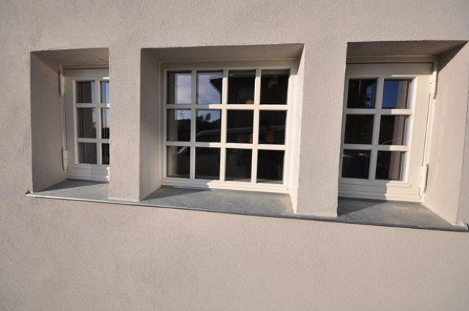 Ferdig pusset, vindusdetaljer