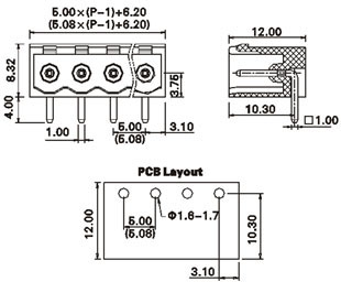 Fuse Block Terminals Screw Block Terminals Wiring Diagram