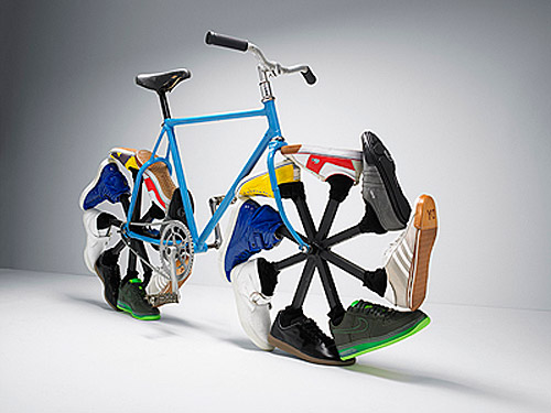 Walking bike designed by Max Knight - click it and check out the video too!