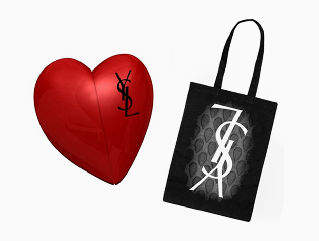 yves-saint-laurent-usb-tote-heart Yves Saint Laurent USB Heart & Tote Bag Giveaway