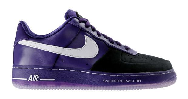 nike air force 1 huarache black purple 1 Nike Air Force 1 Huarache Supreme SP Black/Purple