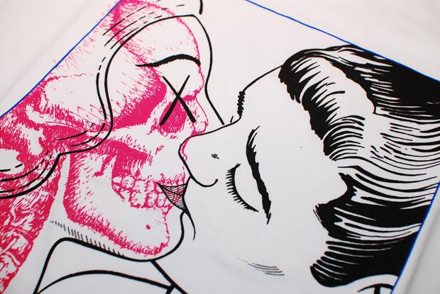 originalfake skull kiss one tee 01 OriginalFake Skull Kiss One Tee