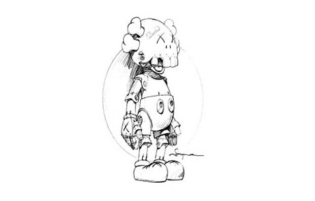 hajime sorayama kaws figure Hajime Sorayama x KAWS
