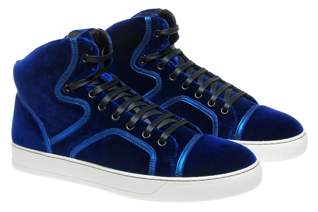 lanvin velvet high top trainer Lanvin Velvet High Top Trainer