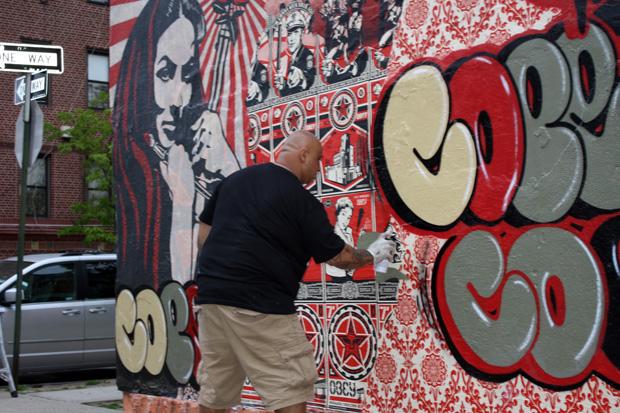 shepard fairey cope2 bronx mural 3 Cope2 x Shepard Fairey Bronx Mural