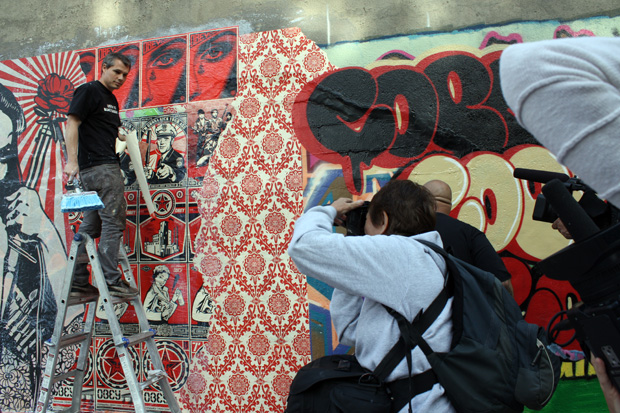 shepard fairey cope2 bronx mural 6 Cope2 x Shepard Fairey Bronx Mural