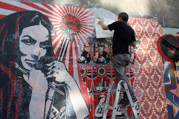 shepard fairey cope2 bronx mural 9 Cope2 x Shepard Fairey Bronx Mural