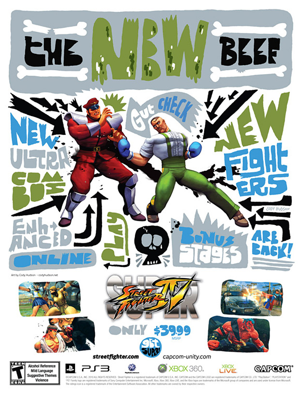 super street fighter 4 artist covers 3 Super Street Fighter IV Artist Series Posters
