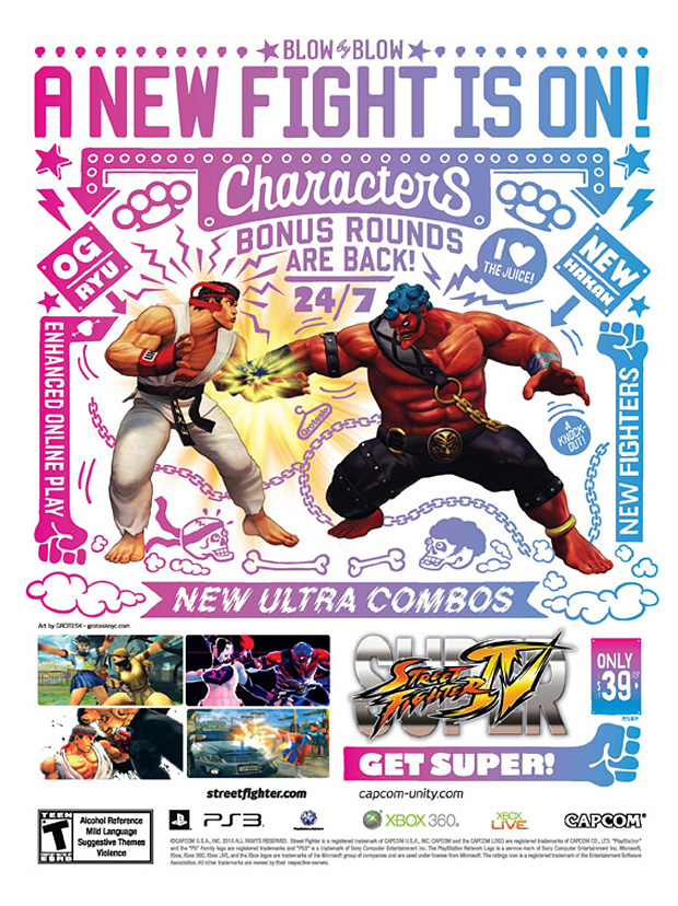 super street fighter 4 artist covers 6 Super Street Fighter IV Artist Series Posters