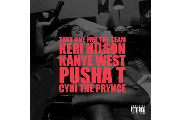 kanye west keri hilson pusha t cyhi da prince take one for the  team Kanye West featuring Keri Hilson, Pusha T & Cyhi Da Prince    Take One For The Team