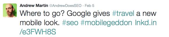 Google Mobile Tweet Andrew Martin
