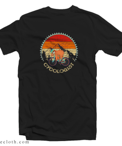 Vintage Style Funny Sloth Cycologist T-Shirt