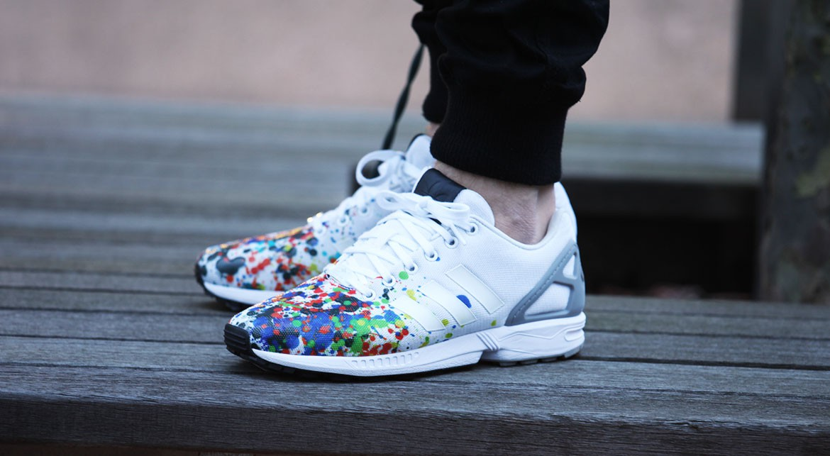 adidas zx flux slip on colorsplashed