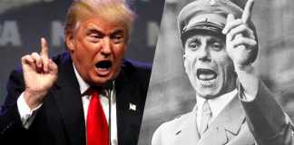 Crazy Trump Fan Yells Heil Hitler