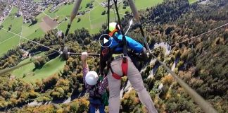 Hang glider cheats death
