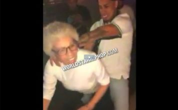Granny Getting Backshots on Dancefloor