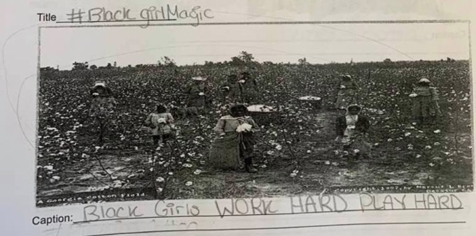 Racist Teacher Makes Students Write Funny Slavery Captions