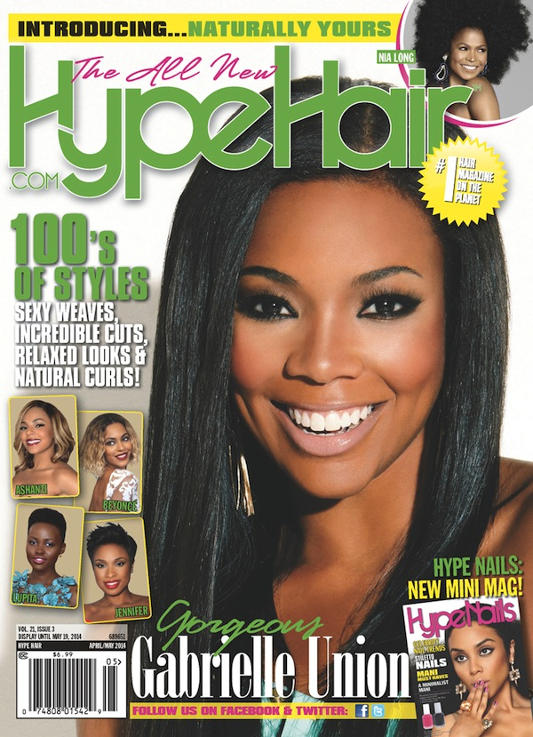 Gabrielle Union April 2014 Hype Hair